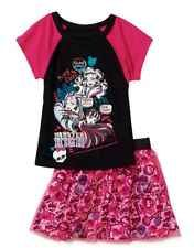 MONSTER HIGH GIRL'S 2-Piece OUTFIT SHIRT AND SKIRT NEW Style Size 7/8 clothing