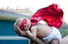 baby superhero - newborn photo idea