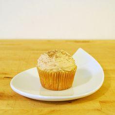 Bourbon cupcakes with salted bourbon caramel buttercream