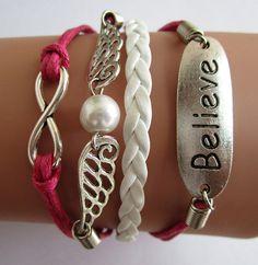 eternity braceletwing braceletbelieve braceletleather