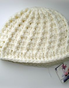 Gorro tejido a crochet.