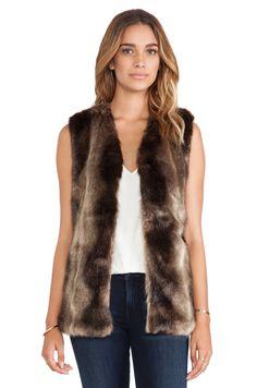 heartLoom Lizanne Faux Fur Vest in Natural | REVOLVE