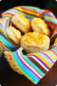 Fluffy Flaky Cheddar Biscuits | The Comfort of Cooking