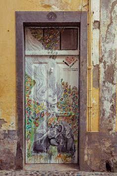 Amazing painted door