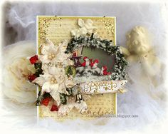 Christmas Card - Poinsettia Flower Tutorial - Crafting Lifes Pieces
