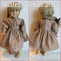 Kirsten's School Dress Sew-a-long :: Complete step by step directions and tips along with a link to download the pattern for free.
