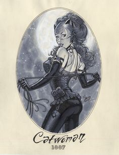 Victorian Catwoman by Michael Dooney