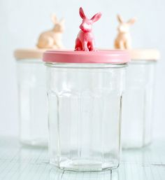 Bunny jars to fill for Easter by Torie Jayne