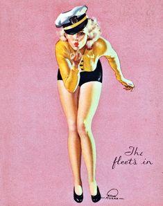 """""""The Fleet's In"""" by Earl Moran, 1938"""
