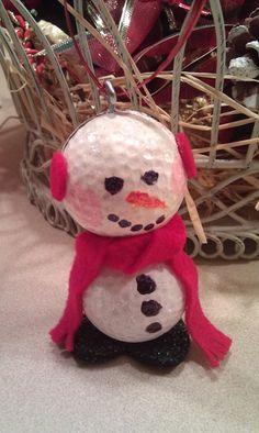 Golfball snowman... Ho ho ho!!