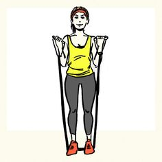 33 Resistance Band Exercises You Can Do Anywhere—Standing Double Bicep Curl