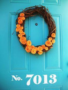 dollar store wreath! shamwow flowers