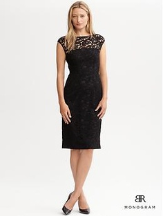 Cap sleeve lace sheath | Banana Republic