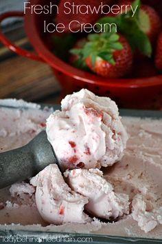 Fresh Strawberry Ice Cream