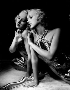 Eugene Robert Richee | Betty Grable | 1930s | mirror image | vintage photo | black and white |