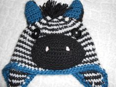 Really like this hat --Zebra Crocheted Hat