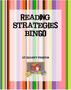 Reading Strategies BINGO. Independent activity for early finishers with 9 reading strategies and authentic assessments to match. Can be used with any book. $1. theorganizedclassroomblog.com
