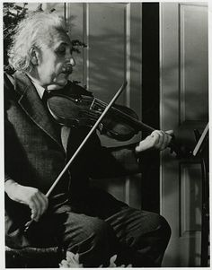 Einstein on Violin