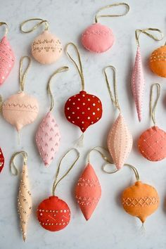 31 Cutest Christmas Felt Ornaments | ComfyDwelling.com