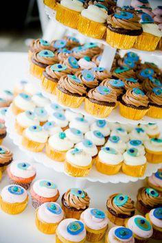 DIY wedding tiered cupcake cake  #weddings #cake