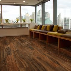 Get the look of wide plank flooring for half the work. Just snap Allure planks over your existing floor and enjoy!