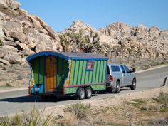 northern californian wandering book artists peter and donna thomas made their own gypsy wagon