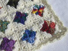 Crocheted Doll Blanket All Scraps Trimmed by crochetedbycharlene