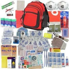 Also works for Non-Zombie emergencies. Deluxe 2-Person by SurvivalKitsOnline Perfect Survival Kit for Emergency Disaster Preparedness for Earthquake, Hurricane, Fire, Evacuations, Auto, Home and Family