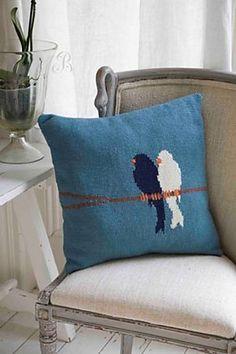 Ravelry: Lovebirds Cushion pattern by Jem Weston