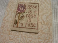 Rose, designed by Lori @La D Da Markovic, from La D Da, stitched by Teca blogja (blog): Cseverke blogger.
