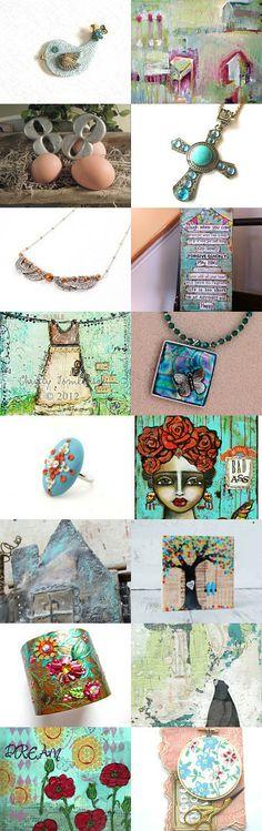 Mixed Media Monday #13 an etsy.com treasury by Carla's Craft