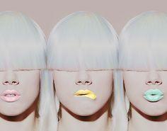 pastel lipstick.