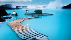 Blue Lagoon Geothermal Resort pool in Grindavík, Iceland