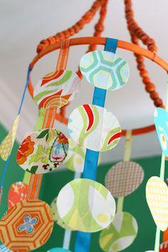 DIY fabric mobile - #nurserydecor