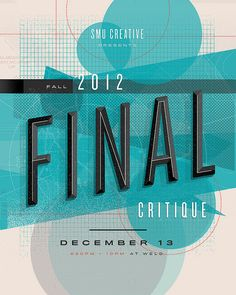 Final critique. Nice type design.