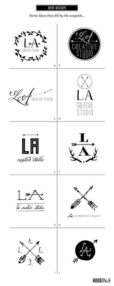 "not in love with the arrows, but am drawn to these logos. especially ""A"" ""B"" ""I"" & ""J."" Is there a way to incorporate baseball bat + sewing needle without being too literal and/or cheesy? But I also like how these are circular and can be easily placed/re-used throughout wedding"