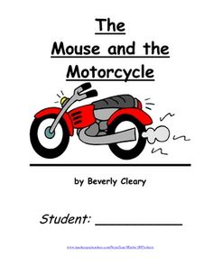 Mouse and the Motorcycle Worksheets - Mouse on a Motorcycle Images ...