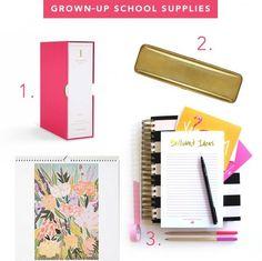 Grownup school supplies #theglitterguide