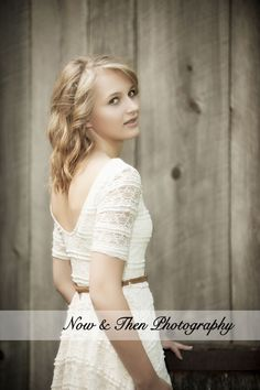 Now & Then Photography | Balsam Lake, WI | Posts | Senior Pictures | Girls | Outfit Ideas | Poses | Barn Wood | Lace Dress | Country Girl |