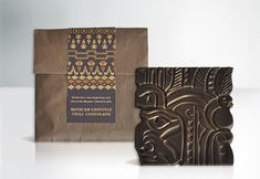 Mayan inspired chocolate packaging   Designer: Hagopian Ink - they produced 500 Mexican chili chocolate labels to celebrate the fact that the world didn't end 21/12/2012