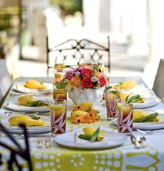 summer outdoor dining #yellow