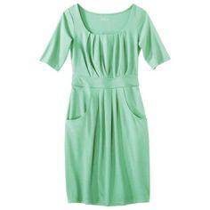 Merona Womens Ponte Scoop Neck Dress wPockets - Assorted Colors