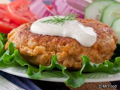 Easy Salmon Patties - Skip the burgers this 4th of July and try this seafood recipe on for size. Salmon patties are a great healthy dinner option if you're looking to eat a little lighter.