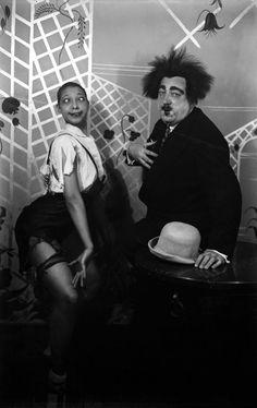 Paul Poiret  Josephine Baker 25 novembre 1925 (bal des Catherinettes de la maison de couture Poiret)