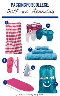 Lights in the Sky: Packing for College: Bath & Laundry
