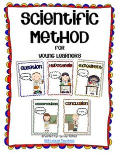 Young students love to act like scientists!This pack includes posters, 1/4 page cards to sequence and a generic science experiment recording shee...
