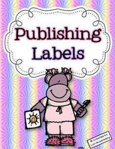 This freebie contains labels for you to add to your students' published stories.       Written and Illustrated by  Dedicated to  About the Author  The Author (self portrait)