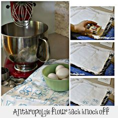 anthropologie inspired flour sack