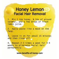 DIY Honey Lemon Facial Hair Removal