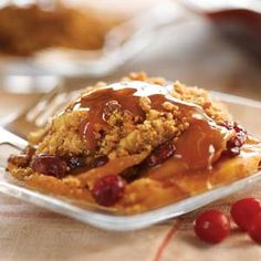 Cranberry Crisp Recipes from Taste of Home, including Apple Cranberry Peanut Butter Crisp Recipe